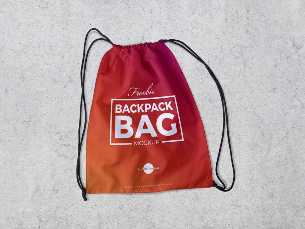 Free Backpack Bag Mockup