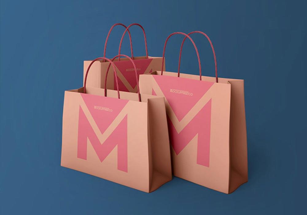 Free Brown Paper Bags Mockup