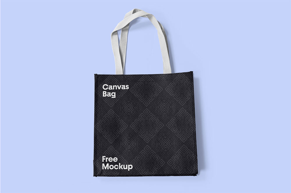 Free Canvas Bag PSD Mockup
