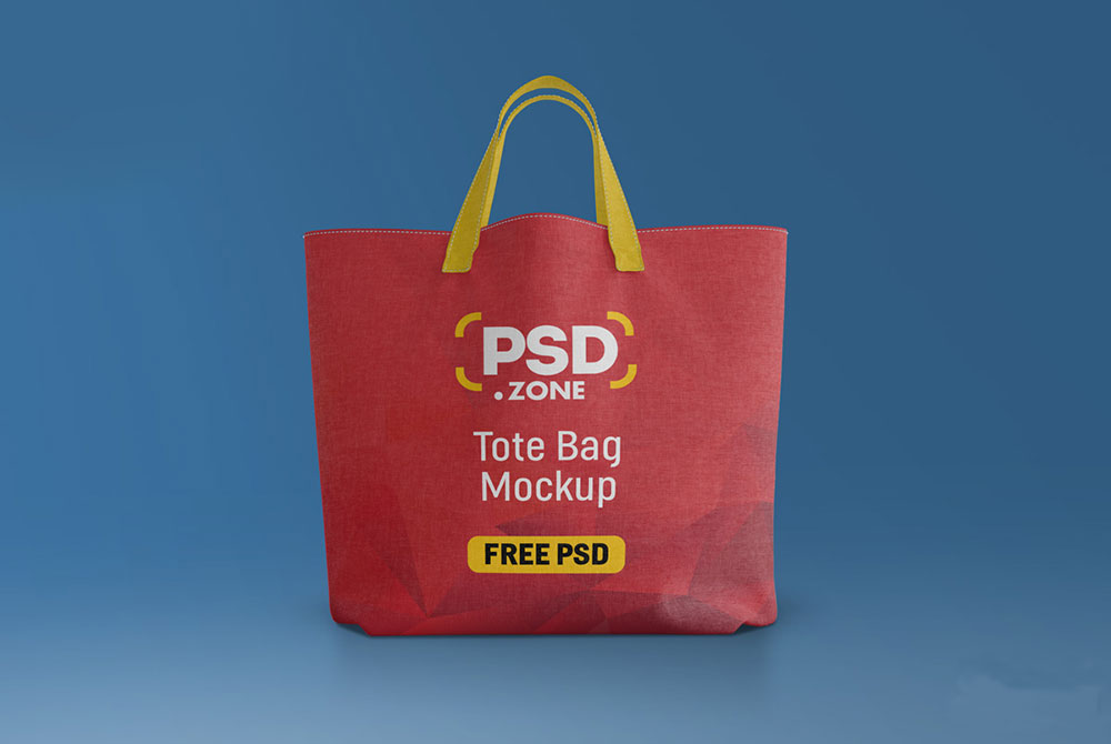 Free Canvas Tote Bag Mockup Free PSD