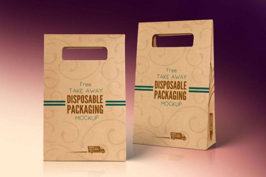 Free Disposable Food Bag Mockup PSD