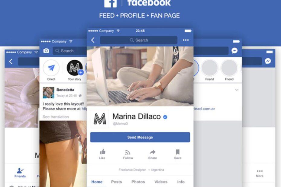 Free Facebook Mobile Layout Mockup