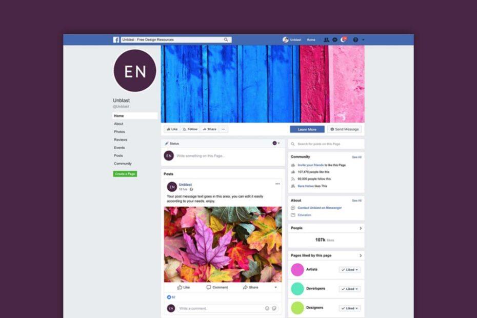 Free Facebook Page Mockup PSD