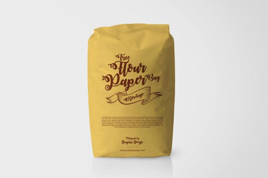 Free Flour Paper Bag Mockup