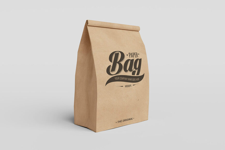 Free Food Bag Mockup