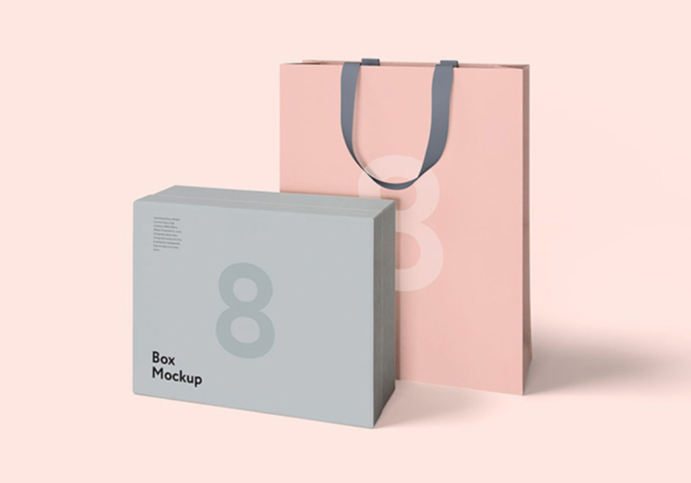 Free Luxury Box & Bag Mockup