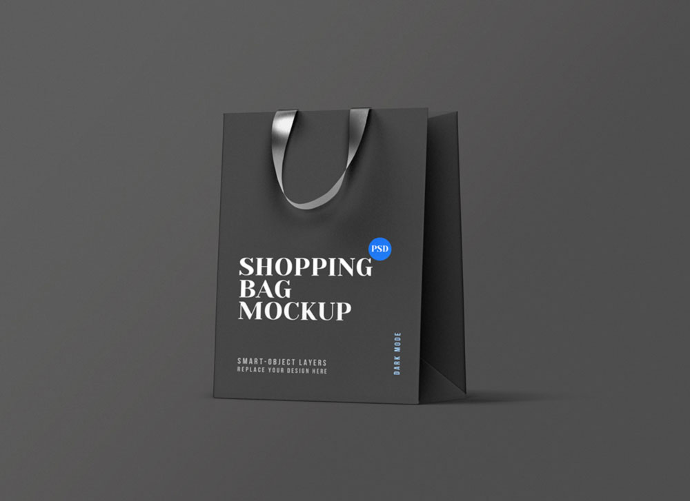Free Minimal Shopping Bag Mockup PSD