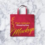 Free Non-Woven Shopping Bag Mockup