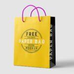 Free Paper Bag Mockup Free PSD