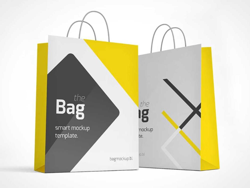 Free Paper Bag Mockup Template PSD