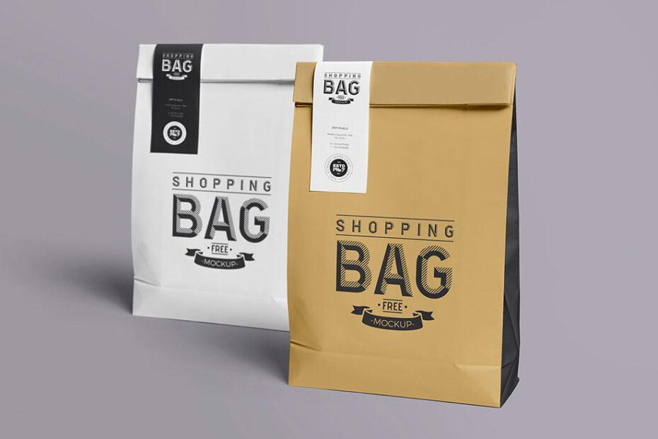 Free Paper Bags Mockup