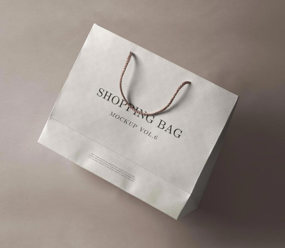 Free Perspective Shopping Bag Mockup