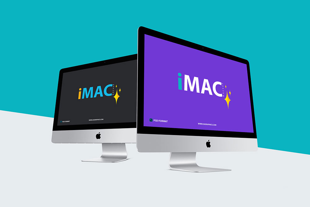 Free Perspective iMac Mockup