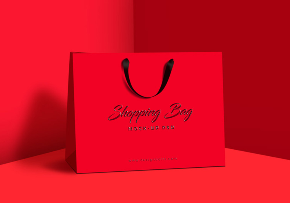 Free Realistic Shopping Bag Mockup