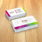 Free Round Corner Business Card Mockup
