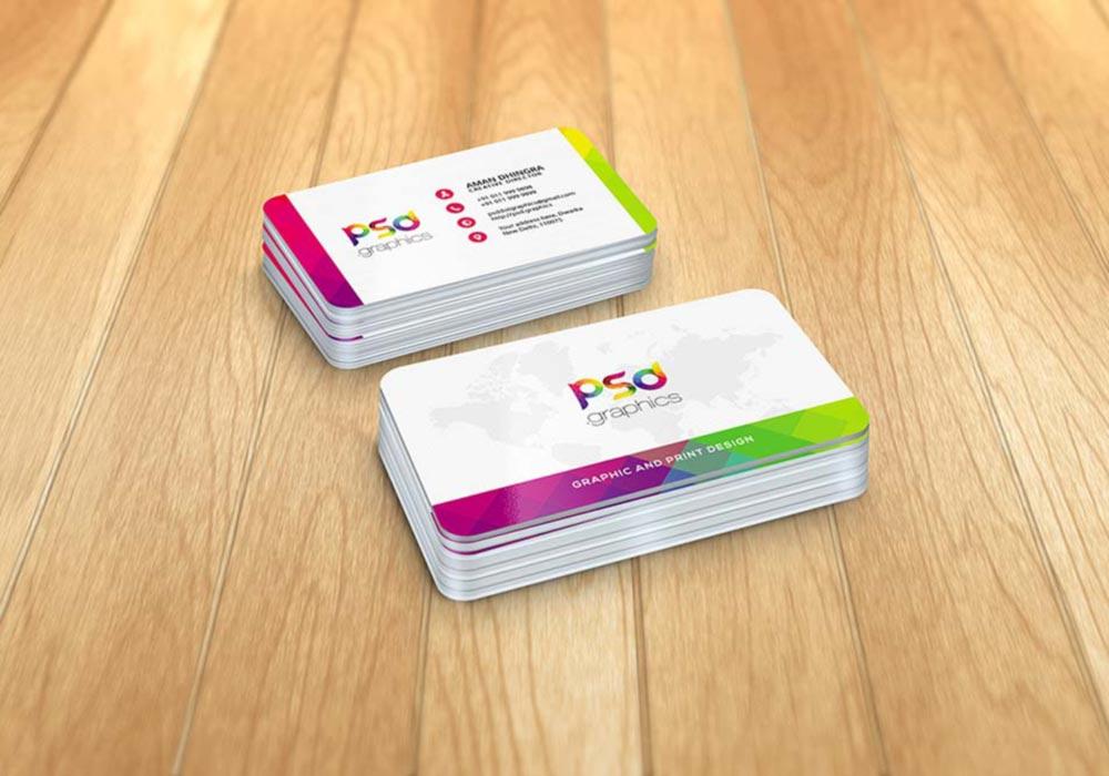 Round-Corner-Business-Card-Mockup