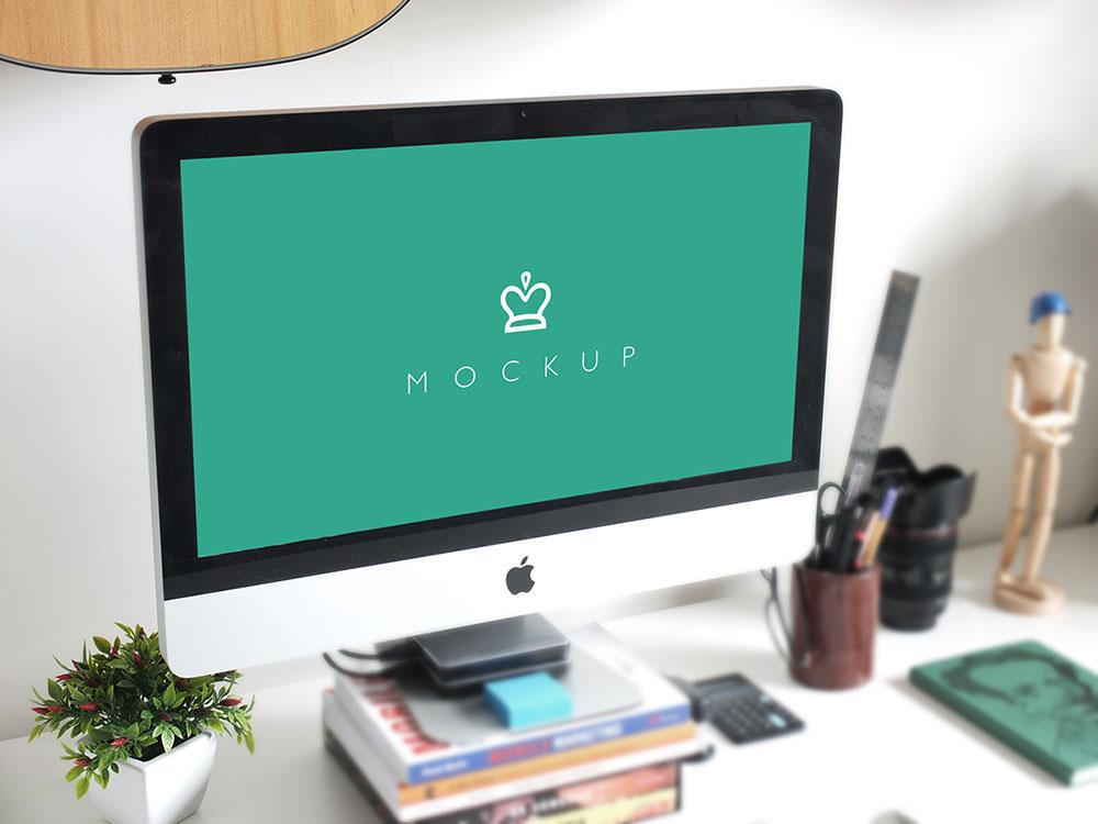 Free Simple iMac Mockup