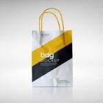 Free Sleek Paper Bag Mockup