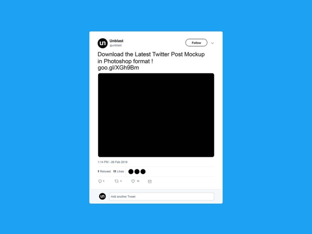Twitter Post Mockup