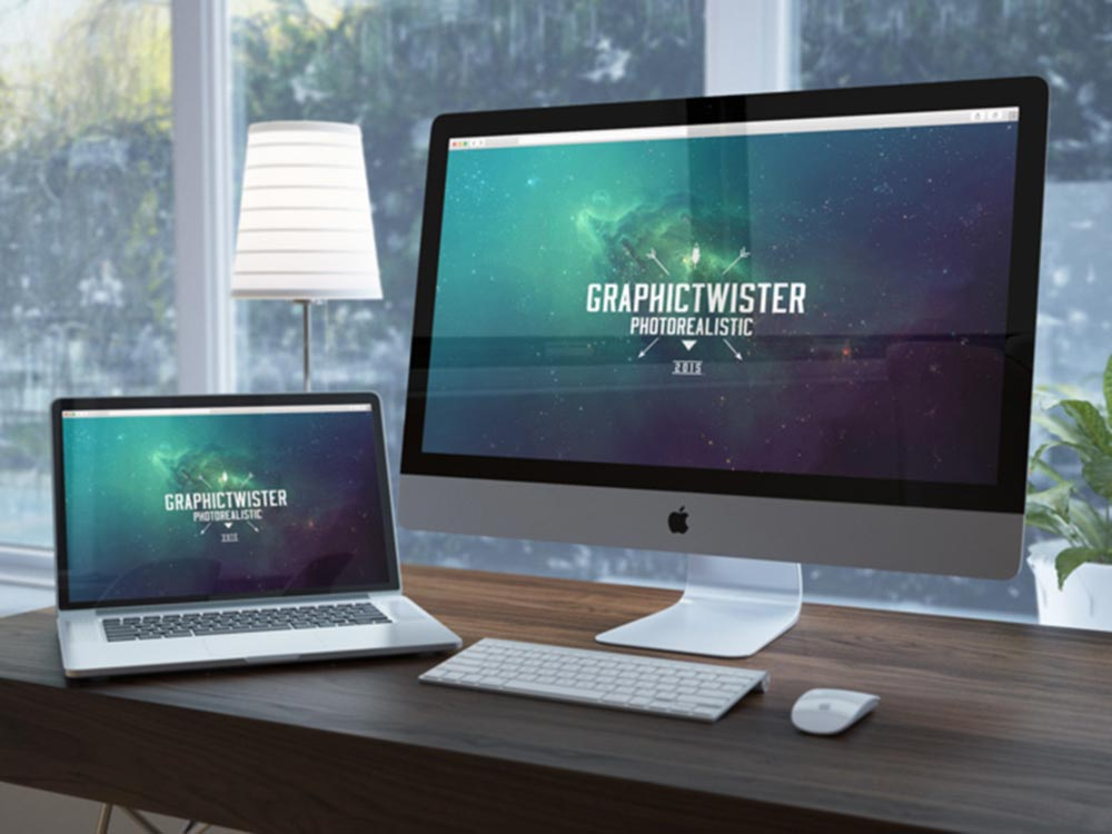 Free iMac & Macbook Mockup