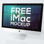 Free iMac on Desk Mockup