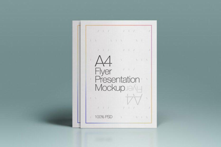 Free A4 Flyer PSD Mockup PSD