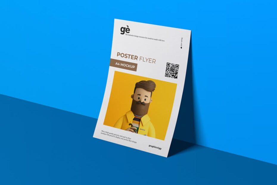Free A4 PSD Flyer Mockup PSD