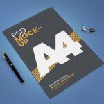Free A4 Paper Flyer Mockup PSD