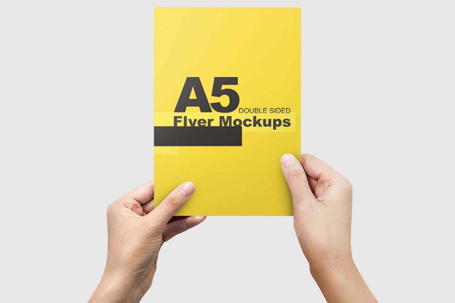 Free A5 Flyer Mockup PSD