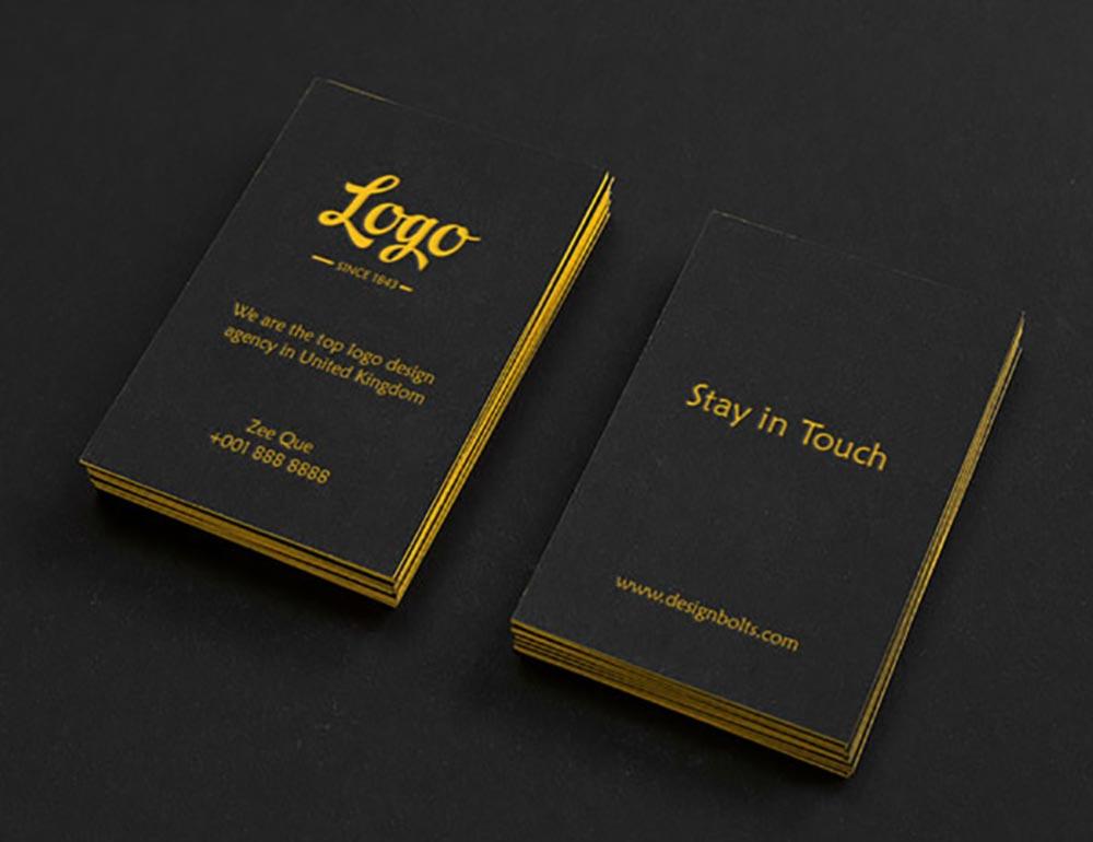 Black-Vertical-Business-Card-Mockup