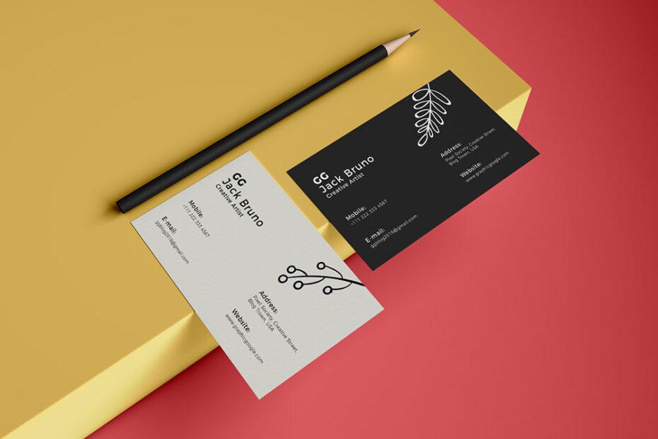 Free Brand Business Card PSD Mockup
