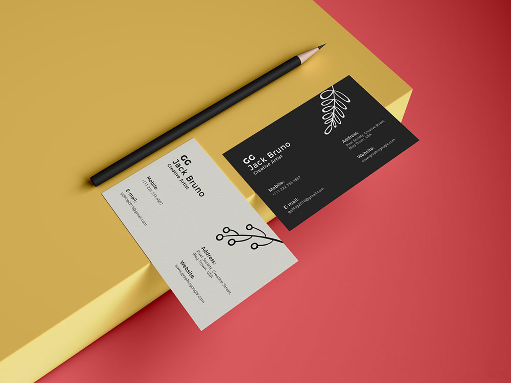 Free Brand Business Card PSD Mockup