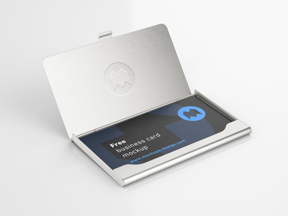 Business Card Holder Mockup PSD