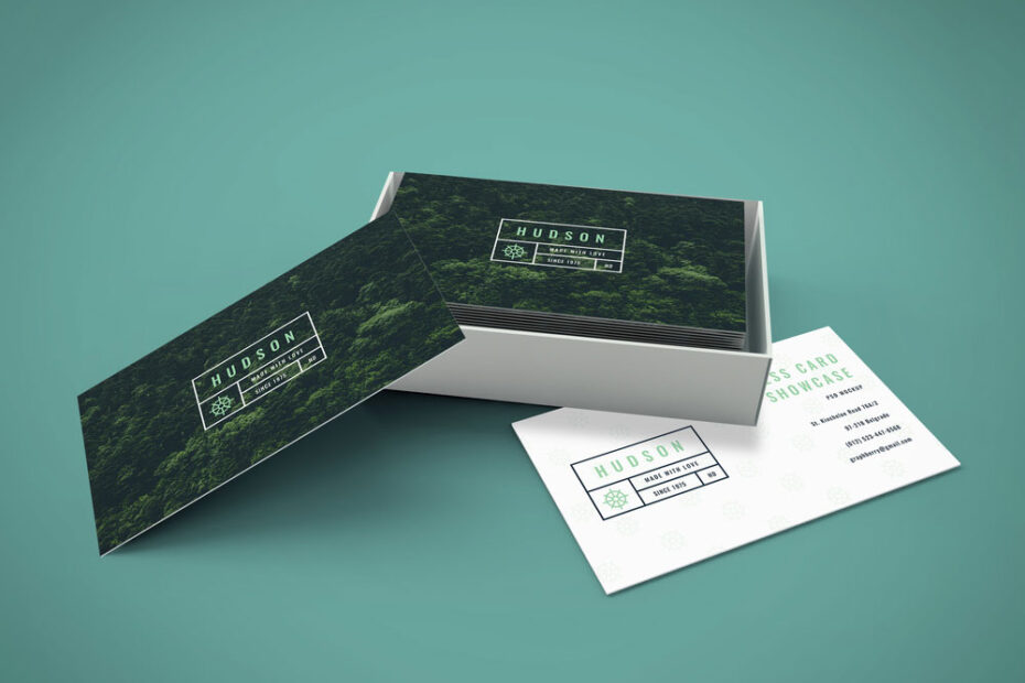 Free Clean Business Cards PSD Mockup