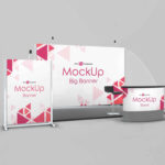 Free Exhibition Stand Mockups PSD