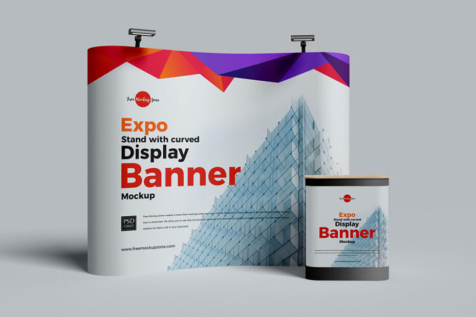Free Expo Backdrop Mockup PSD