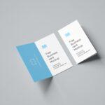 Free Folded Business Card PSD Mockup