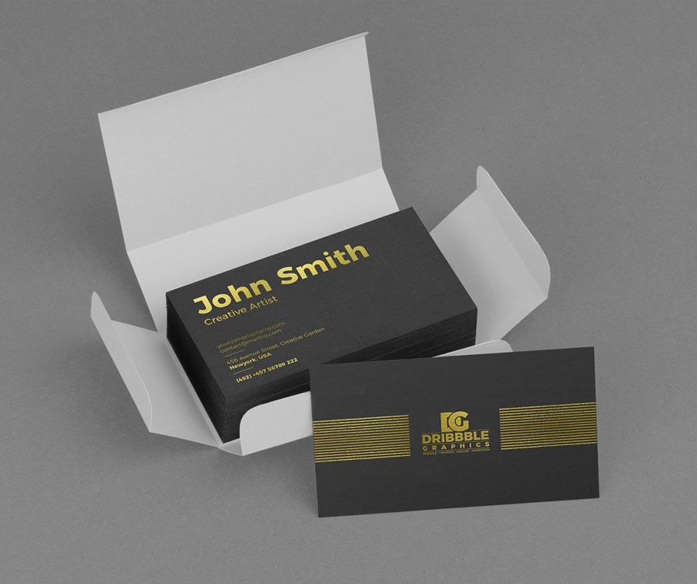 Golden-Foil-Business-Card-Mockup