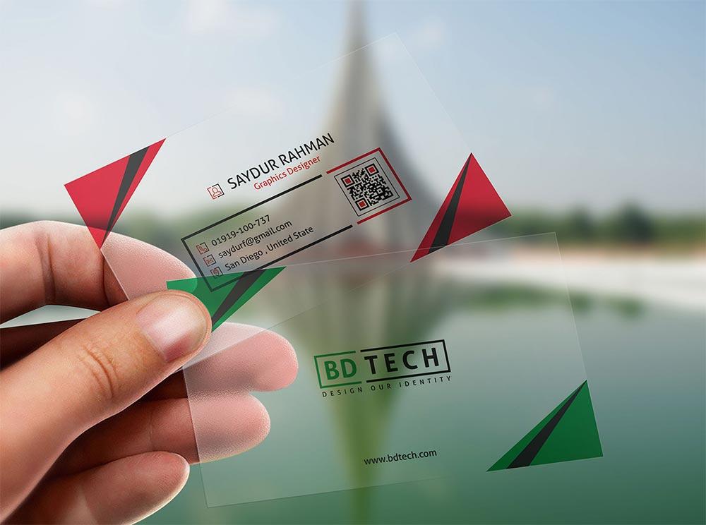 Plastic-Business-Card-Mockup