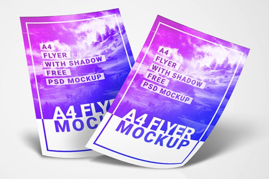 Free Simple A4 Flyer Mockup PSD