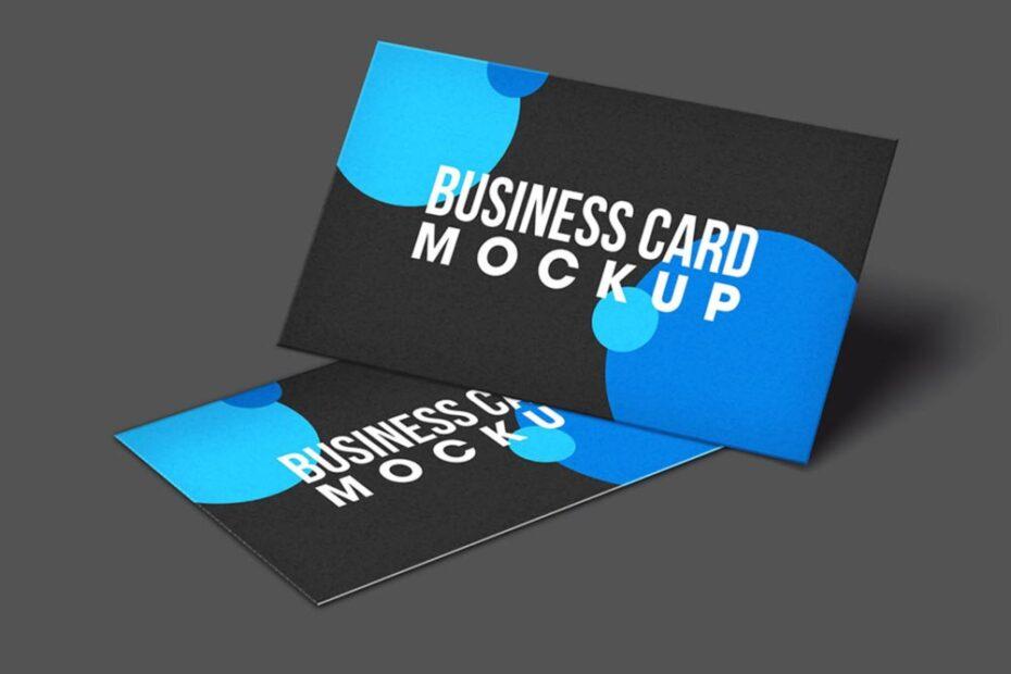 Free Simple Business Card Mockup PSD