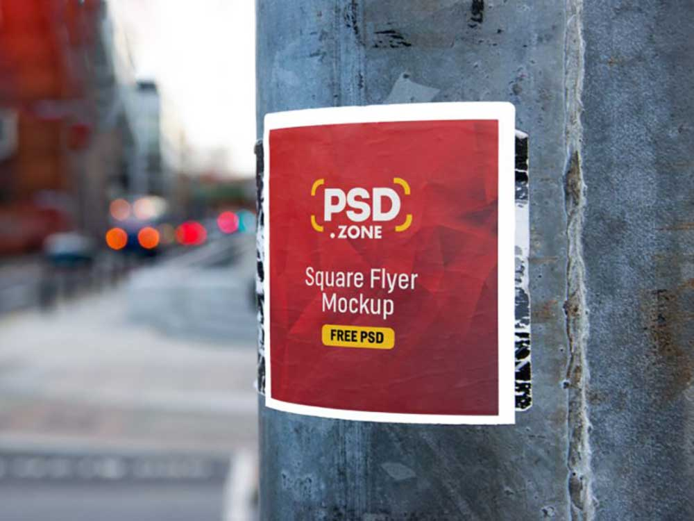 Square-Flyer-on-Wall-Mockup