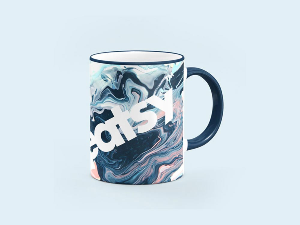 Free Sublimation Mug Mockup PSD