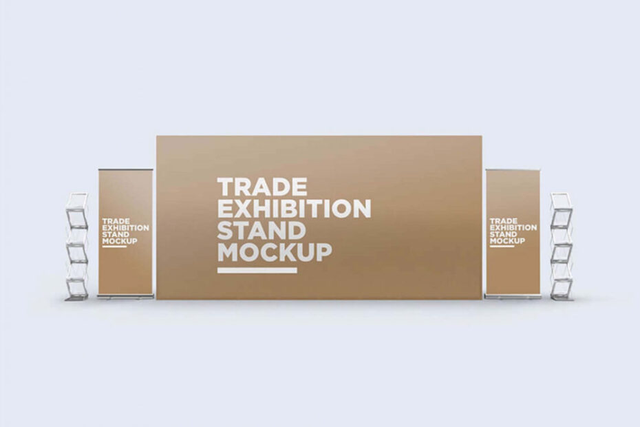 Free Trade Exhibition Stand Mockup PSD