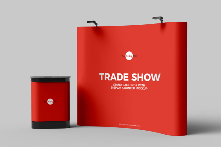 Free Trade Show Backdrop Mockup PSD