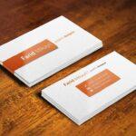 Free Unique Business Card Mockup