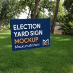 Free Election Yard Sign Mockup PSD
