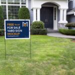 Free For Sale Yard Sign Mockup PSD