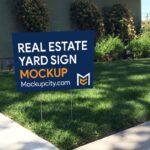 Free Real Estate Yard Sign Mockup PSD