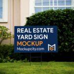 Free Real Estate Yard Sign PSD Mockup
